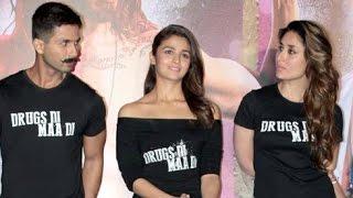 shahid and kareena kapoor at udta punjab trailer launch, shahid kareena hot scenes, bollywood movies, Udta Punjab