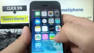 Cómo Mover Los Iconos De Las Aplicaciones En El IPhone 5S