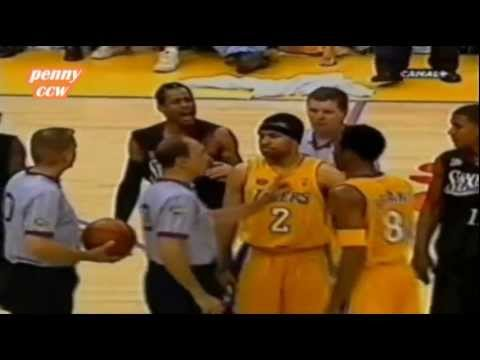 Allen Iverson Highlight vs Kobe Shaq Lakers 2001 NBA Finals Game 2 *Argue with Kobe