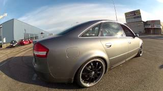 Audi S6 with RS6 modified exchaust videos