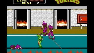 NES Longplay [369] Teenage Mutant Ninja Turtles II The
