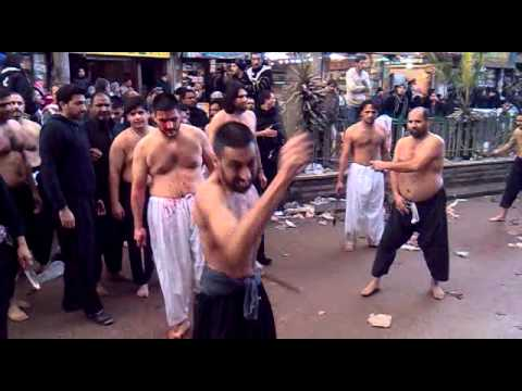 RAVI ROAD NOHA PARTY AND MATAMI SANGAT KAMBR E BANI HASHIM IN SHAAM 2011 PART 1 OF 2
