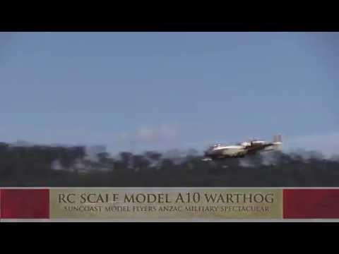 Radio Controlled Scale Model A10 Warthog Suncoast Model Flyers ANZAC Military Spectacular Sunshine C