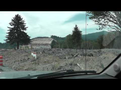 OSO Washington Landslide - driving through