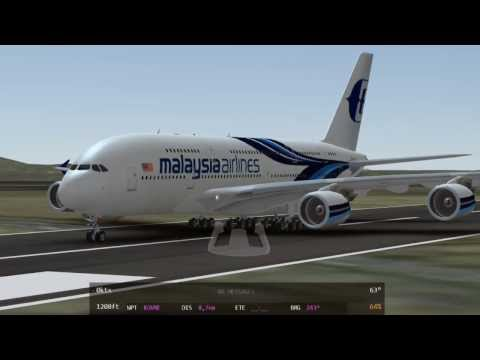 INFINITE FLIGHT - Airbus A380-800 Malaysia Airlines (HD) - IPhone 5