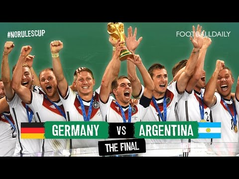 Germany 1-0 Argentina | #NoRulesCup Unofficial Fan Highlights | 2014 World Cup Final