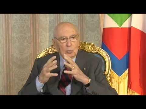 Giorgio Napolitano : Giovani Disoccupati e Crisi Economica - Lavoro in Italia