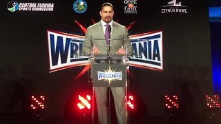 Roman Reigns is proud to bring WrestleMania 33 to Florida