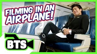 Filming on an Airplane! (BTS)