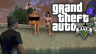 GTA 5 Online FUNNY MOMENTS - NAKED PEOPLE EVERYWHERE! (GTA V Online)