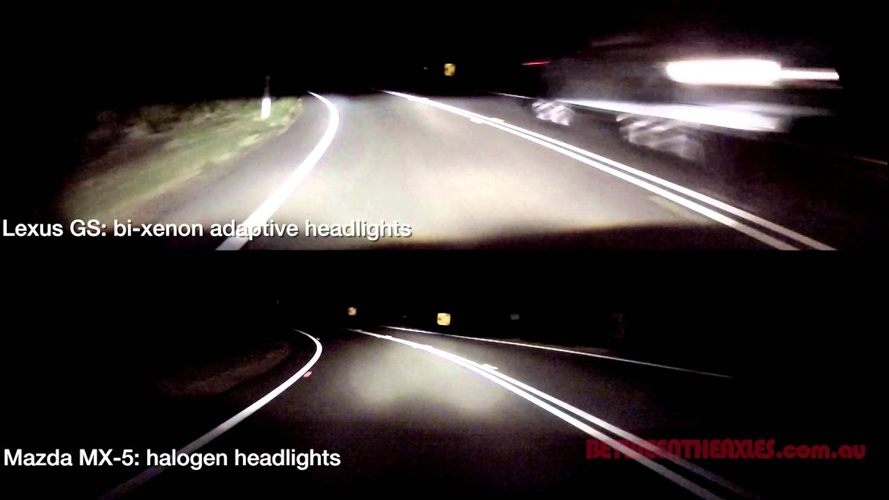 Xenon Vs Halogen Headlight Comparison Also Static Vs