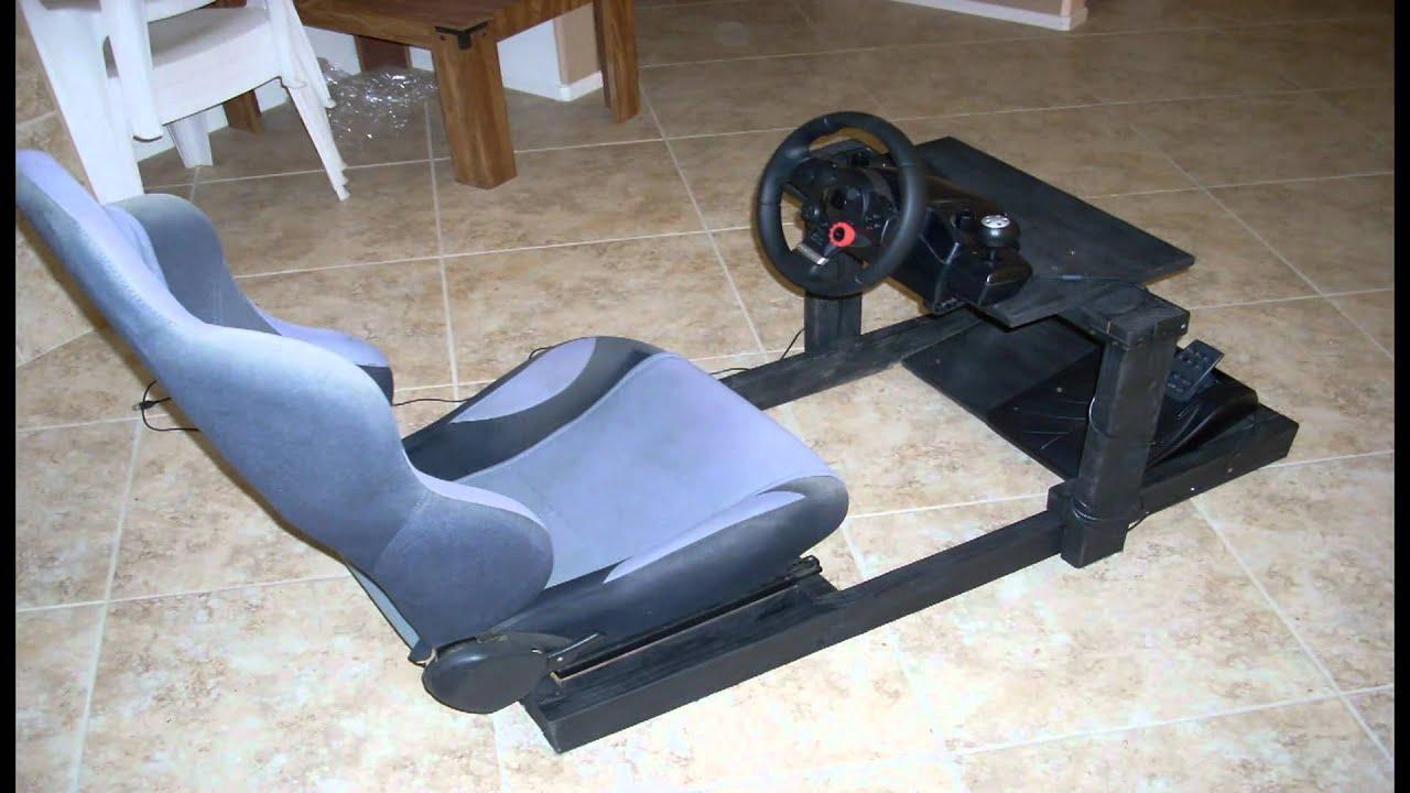 diy gran turismo logitech steering wheel stand cockpit. Black Bedroom Furniture Sets. Home Design Ideas