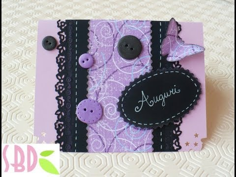 Scrapbooking Tutorial: Biglietto Trendy - Trendy card