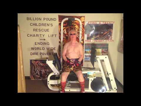 FOUNTAIN OF YOUTH 74TH BIRTHDAY TIGER LIFT EXERCISE     75 POUND BENCH CURL
