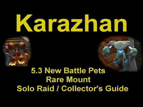 Karazhan 5.3 new battle pets   rare mount solo farm guide ...