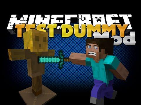 Minecraft Mod - TEST DUMMY MOD - TEST WEAPON STRENGTH