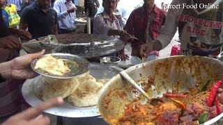 soft naan paratha in kolkata street very tasty street food india