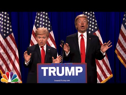 Donald Trump and Little Donald (8th Grade Impressionist)