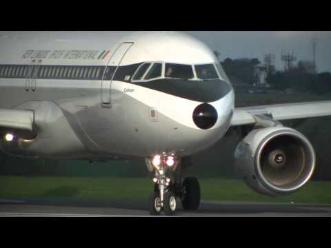 Closeup of A320 Retrojet Takeoff   Aer Lingus