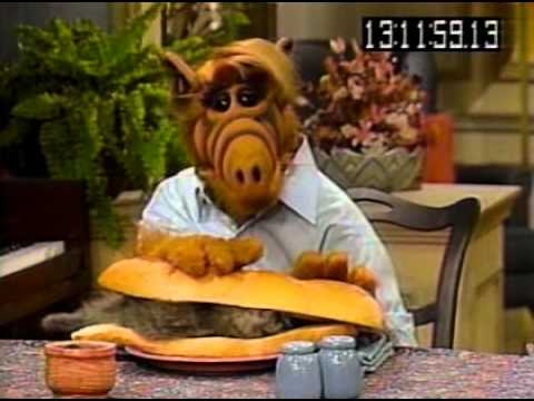 Alf Trying To Eat A Cat