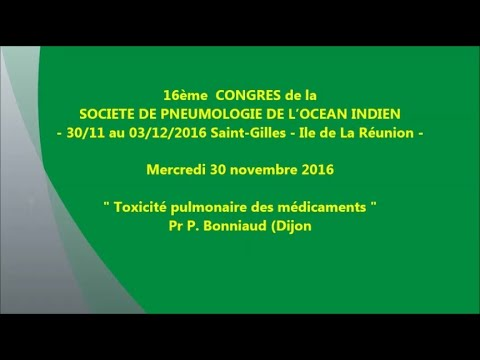 Toxicité pulmonaire des médicaments. Pr P. Bonniaud Dijon