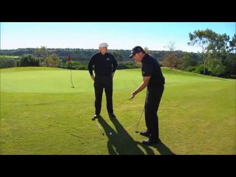 Phil Mickelson flop shot over Roger Cleveland