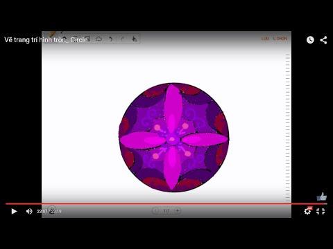 Vẽ trang trí hình tròn_ Circle_How to draw a Circle