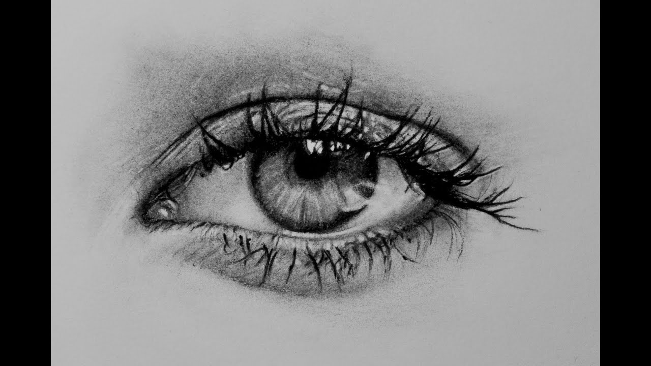 A Realistic Eye  Speed Drawing