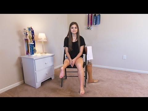 Schoolgirl Uses Ankle As Knee Joint
