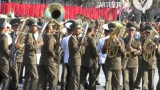 Северная Корея. Пхеньян. Военный парад (15-10-2015).