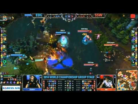 Edward Gaming vs Samsung White/Chung kết Thế giới Mùa 4 Vòng bảng