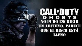 Call Of Duty Ghosts No Pudo Escribir Archivo. Parece Que
