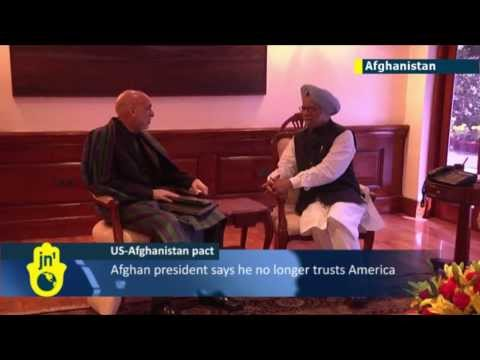 Karzai Blasts US: Afghan president says he doesn't trust America during visit to India