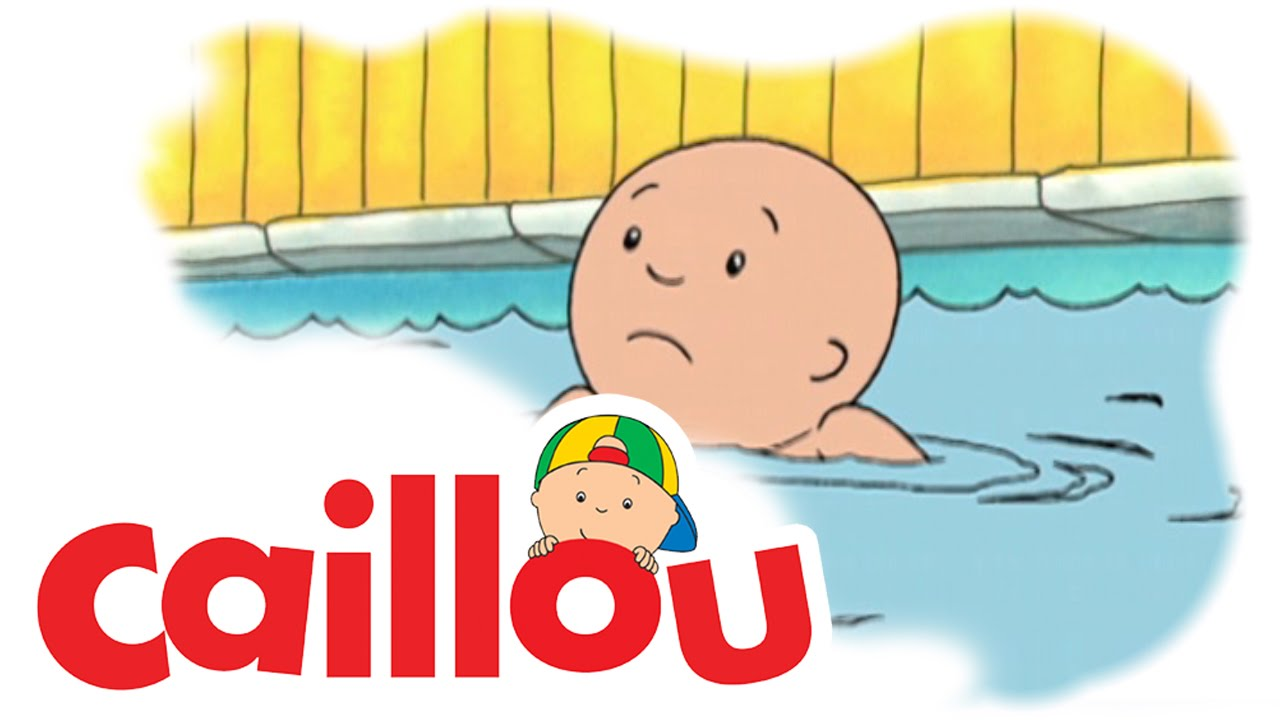 Caillou caillou learns to swim s01e35 youtube for Caillou na piscina