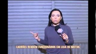 Ladr�es mant�m funcion�rios de ref�m em assalto no Bairro Goi�nia