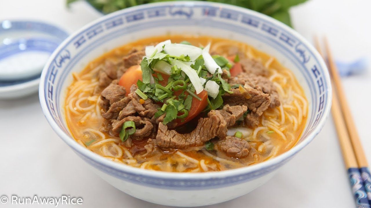 SHORTCUT Spicy Beef Noodle Soup - YouTube