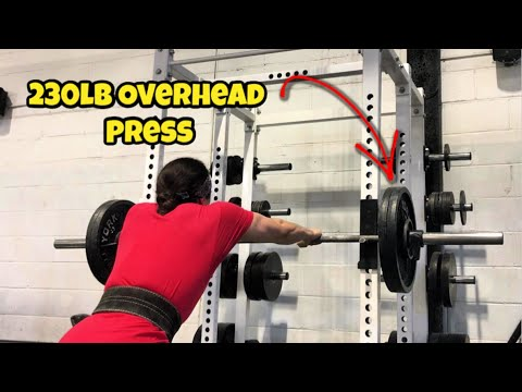 Omar Isuf 230lb Overhead Press (+50lb Over Bodyweight)