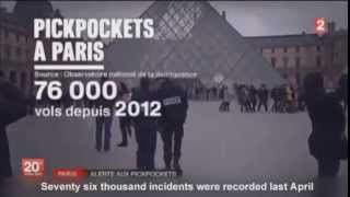 [Brazen pickpockets targeting tourists visiting Paris] Video