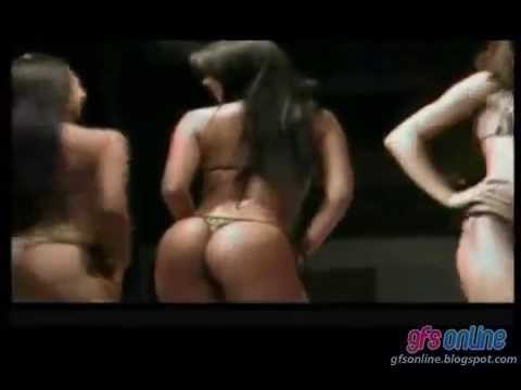 Hot Latinas in a Thong Bikini Contest