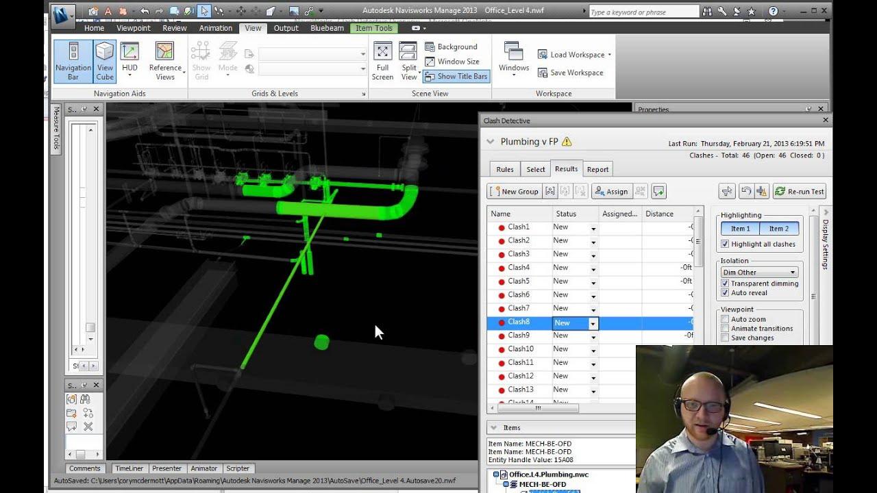 Navisworks Clash Detection Model : Navisworks training clash detection fundamentals youtube
