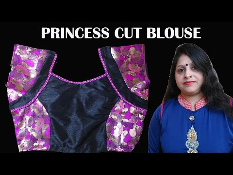 how to cut a princess line blouse