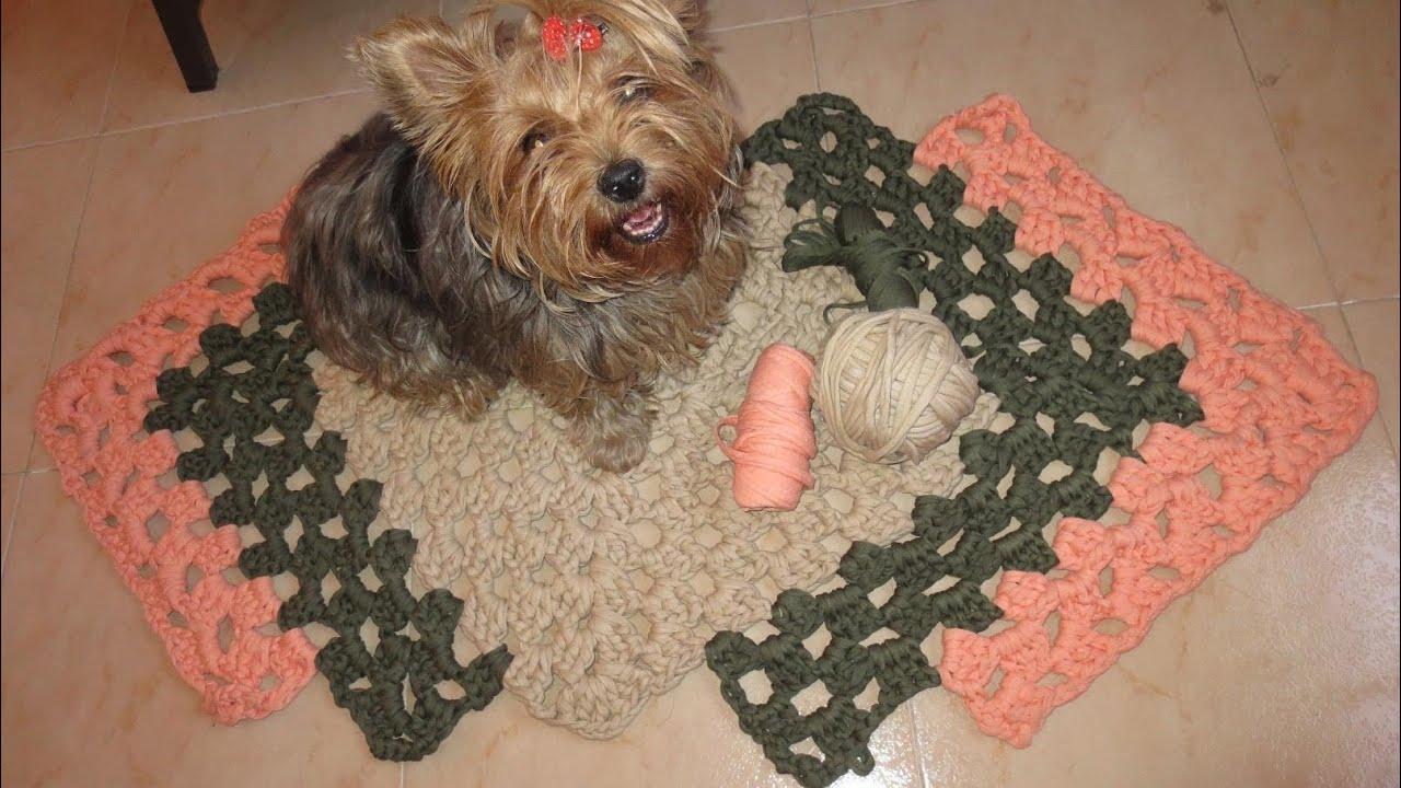 Como hacer una alfombra 1 parte youtube - Como hacer trapillo ...