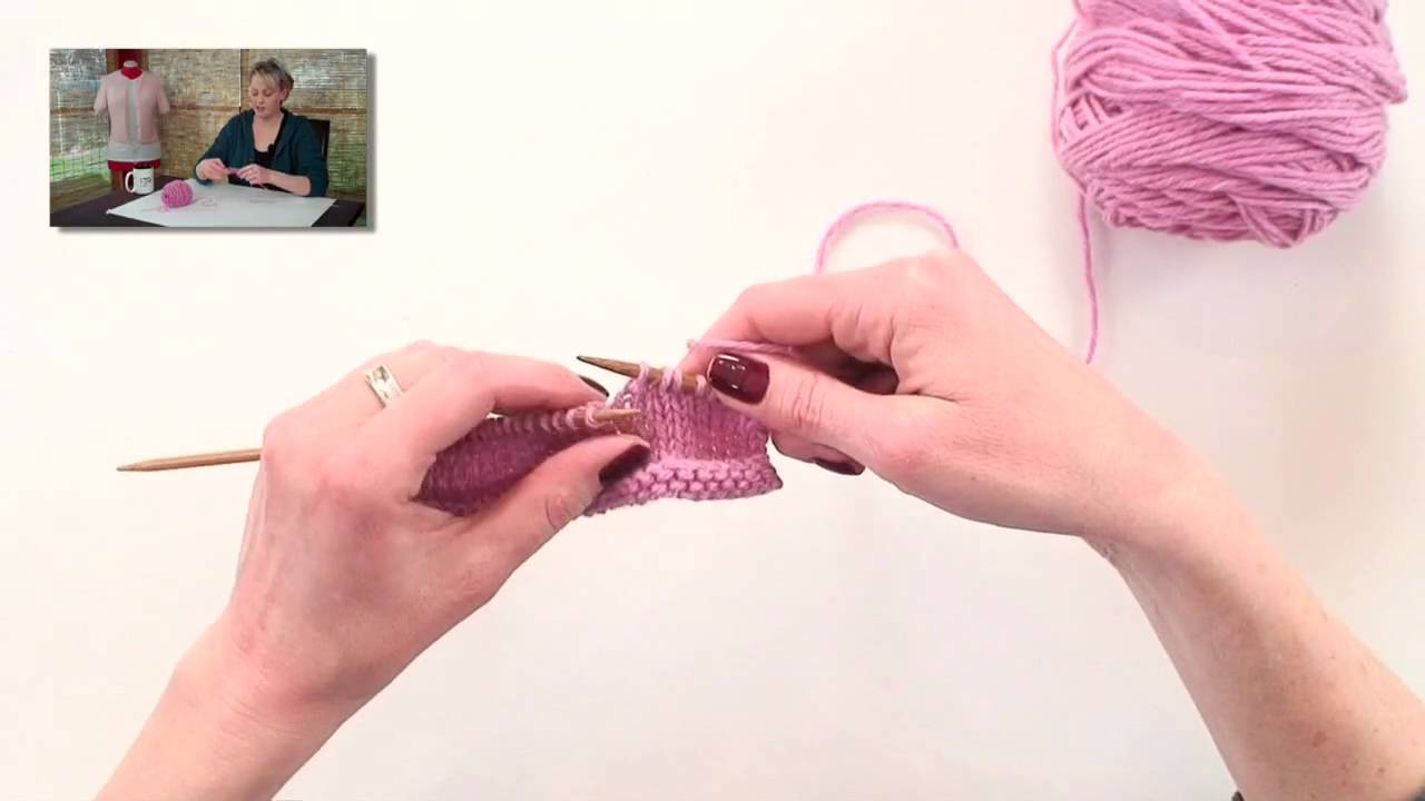 Knitting Help - Pass Slipped Stitch Over (PSSO) - YouTube