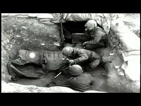 United States Army troops launch offensive during 3rd Winter Campaign of Korean W...HD Stock Footage