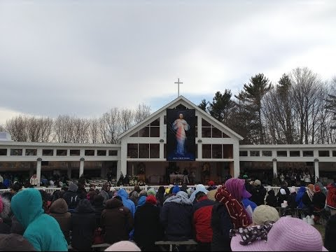 Miracle of rhe Sun on Divine Mercy Sunday  April 07 2013 at Stockbridge, MA