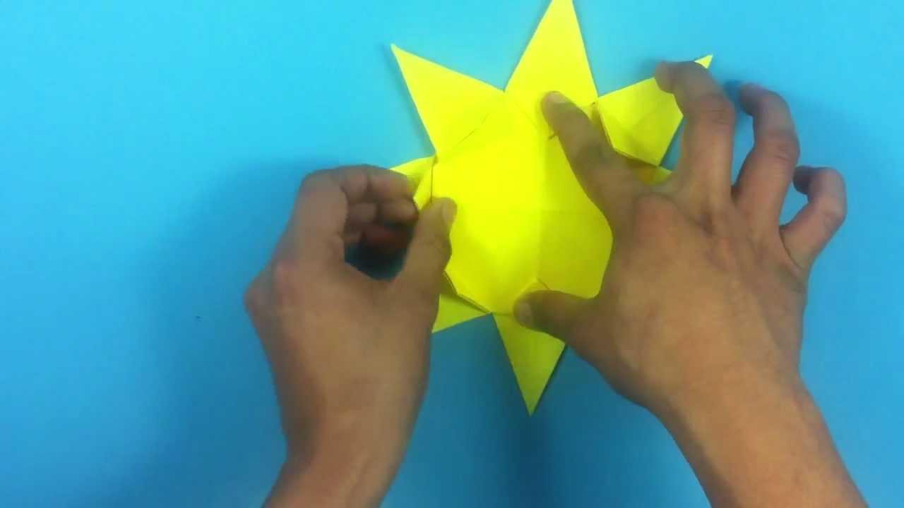 Hacer un sol de origami actividades infantiles youtube - Hacer cabecero infantil ...