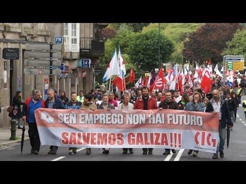 Manifestación nacional polo emprego (Compostela, 19/10/13)