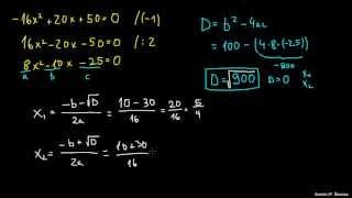 Iskanje ničel v kvadratni enačbi 1