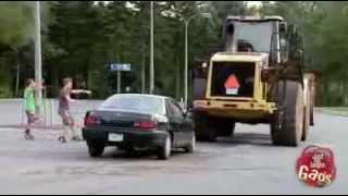 Broma del carro destruido