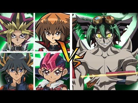 Yugi/Judai/Yusei/Yuma vs Zarc - YGOPRO